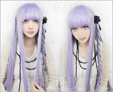 Cosplay wig Halloween Danganronpa Kirigiri Kyouko purple long anime costume Hair