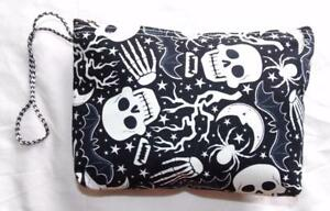 FAIR TRADE GLOW IN THE DARK SKULL WASH BAG  MAKE UP CASE FROM MARRAKESH MOROCCO