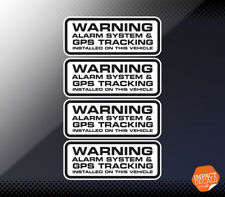 4 X Car Alarm Sticker / GPS Tracker Installed Warning Sticker. Dashcam Decal.