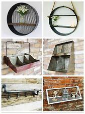 Vintage Wall Cabinet Cube Round Shelves Metal kitchen Hanging Storage Display