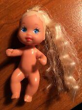 Barbie Krissy Baby Doll Long Blonde Rooted Hair Blue Eyes Mattel