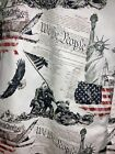 American Legacy Patriotic Button Down Shirt Men's Large Statue of Liberty Bell