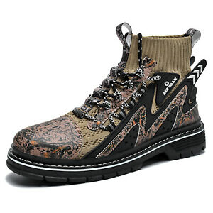 Mens Casual Outdoor Tooling Socks shoes Comfortable Trend Non-slip Work boots