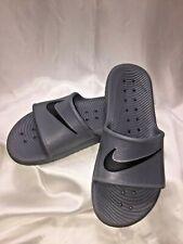 Nike Kawa Shower Unisex Gray Black Synthetic Slide Men 8 / Women 9