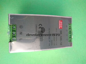 DR-120-12 Mean Well AC/DC Power Supply Single-OUT 12V 10A 120W