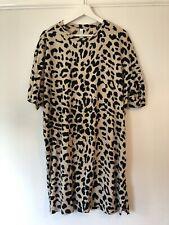 & Other Stories Leopard Print Cotton T-Shirt Dress - EUR 40