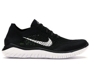 Nike Free RN Flyknit 2018 Men's 942838-001 Running Training Black White Rare