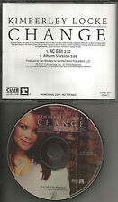 American idol KIMBERLEY LOCKE Change w/ RARE AC EDIT PROMO DJ CD Single 2007 USA