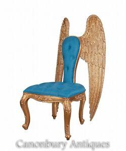 Italian Gilt Winged Arm Chair - Angel Seat Circa 1890