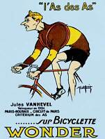 BICYCLE ADVERT VANHEVEL WINNER PARIS ROUBAIX FRANCE ART PRINT POSTER BB9440