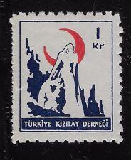 "Turkey 1948-1949 1K   RED CRESCENT inscription ""TURKIYE KIZILAY CEMIYETI (BX1)"