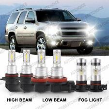 6X 6000K Led Headlight Fog Light Bulbs Kit for Chevy Suburban Tahoe 2007-2014