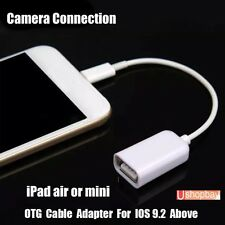 OTG Lightning Male 8 Pin to USB Female Digital Camera Cable iPhone & iPad