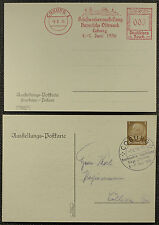 Privatganzsachen Coburg 1936 Ganzsache gestempelt (6154)