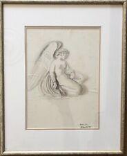 L'ange au poignard - Lucien Mainssieux - Dessin signé daté et situé