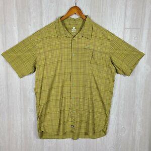 Salomon Men's XXL Green Soft Button Up Short Sleeve Acti Lite Fishing Camping