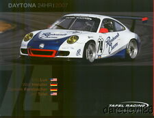 2007 Tafel Racing #74 Porsche 911 GT3 Cup Rolex 24 Grand Am postcard