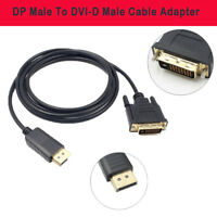 6FT 1.8 M Displayport DP Male To DVI-D Male Cable Adapter Core Cable Newest