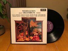BACH WEIHNACHTS ORATORIUM DECCA MONO 346 UK 3-DISC LP BOX MINT