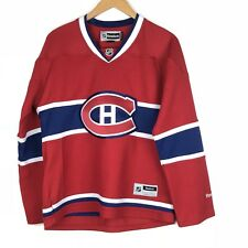 Montreal Canadiens Hockey Jersey LARGE Red Reebok NHL Official Licensed Womens