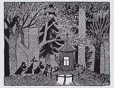 Moomin Immagine Poster 24 x 30 cm Tove Jansson Illustrazioni Scuro Foresta