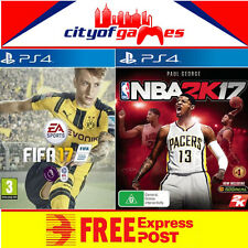 Fifa 17 & NBA 2k17 PS4 Bundle New & Sealed Free Express post In Stock