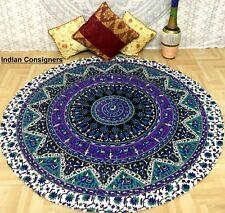 Round Yoga Tapestry Indian Cotton Beach Towel Mat  Unbelievable Roundies Hippie