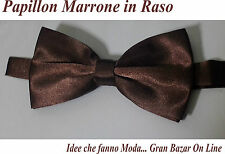 PAPILLON MARRONE LUCIDO MODA FASHION SPETTACOLO