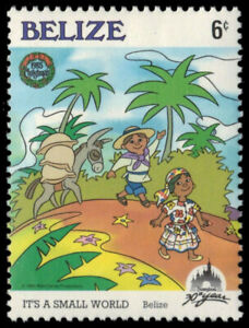 "BELIZE 791 (SG871) - Disney's It's a Small World ""Belize"" (pa55013)"