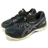 Asics Gel-Nimbus 20 Black Neon Lime Green Men Running Shoes Sneakers T800-N004