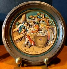 Anri Italy 1973 Alpine Mother's Day Hand Crafted & Painted Plaque #1411