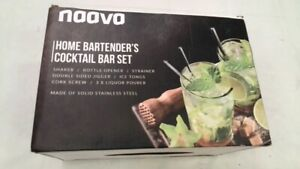 Stainless Steel 10-Piece Home Cocktail Mixology Tool Bartender Kit