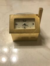 Linden Home Sweet Home House Cottage Miniature Clock Tgo-287 Very Nice Qvc Rare