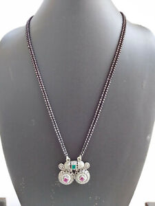 Indian Jewelry Bollywood Traditional Oxidized Ethnic Mangal Sutra Necklace