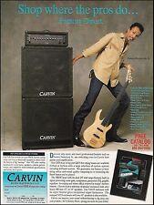 James Jamerson Jr. 1991 Carvin LB75 Bass guitar & PB500 amp 8 x 11 ad print