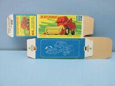 "MATCHBOX Superfast 65 Combined Harvester  RARE ""G Box"" Unfolded C10 MINT BOX"