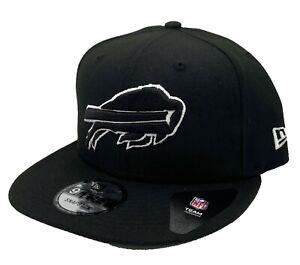 Buffalo Bills New Era 9Fifty Black White Adjustable Snapback Hat Cap NFL