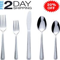 20-PCS Stainless Steel Flatware Silverware Cutlery Set Include Knife/Fork/Spoon