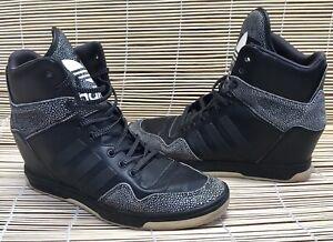 ADIDAS Women's Ladies Black Hi Top Sneaker Runners Shoes US 9 UK 7.5 EUR 41.5