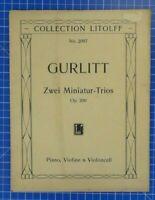 Collection Litolff No.2097 Zwei Miniatur Trios Op.200 Piano Violine Cello B18847