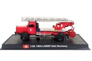 New 1:64 Diecast Fire Engine Germany L4500F Nazi 1944 WWII Fire Truck Vehicle