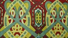 THE ART INSTITUTE OF CHICAGO BEAUTIFUL GOLD RED SILK NECKTIE TIE MJA2719B N15