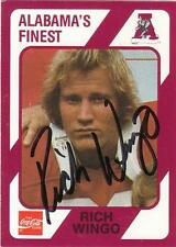 RICH WINGO Autographed Signed 1989 card Alabama Crimson Tide Football COA