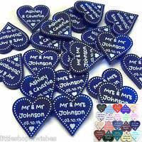 Personalised Mr & Mrs Wedding Favours Love Hearts Table Decorations Confetti