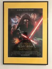 Poster firmado STAR WARS VII varios autógrafos de la película
