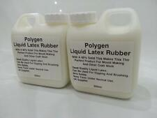 Liquid Latex 1 Litre 2 x 500ml Rubber Mold Mould Making / Dipping / Crafts/ SFX