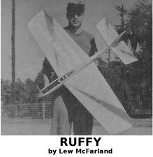 "Model Airplane Plans (UC): Ruffy 50"" Stunt for .29-.35 Engine by Lew McFarland"