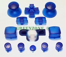 PS3 Controller Clear Blue Mod Kit Triggers,Thumbsticks,Dpad,Home,Start/Select