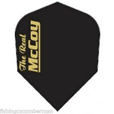 "McCOY ""THE REAL"" EXTRA STRONG DART FLIGHTS BLACK/GOLD"