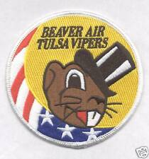 125th FS BEAVER AIR TULSA VIPERS F-16 SWIRL  patch